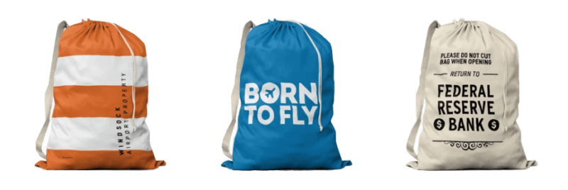 Aviation themed laundry bag