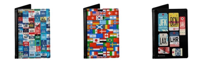 Unique passport covers